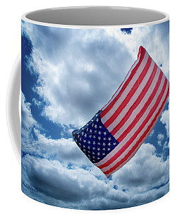 American Flag Kite Coffee Mug by Mick Anderson