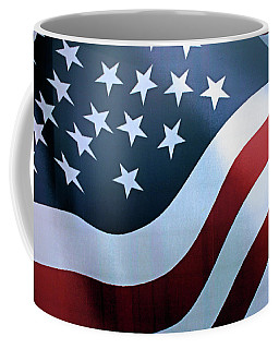 Coffee Mug featuring the photograph American Flag by Kristin Elmquist