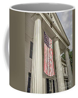 American Flag On Period House Coffee Mug