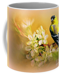 American Goldfinch In The Flowers Coffee Mug