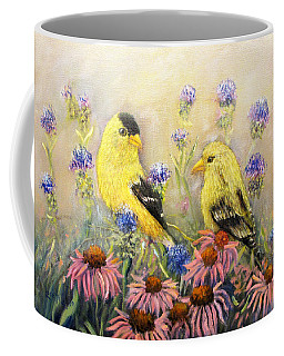 American Goldfinch Pair Coffee Mug