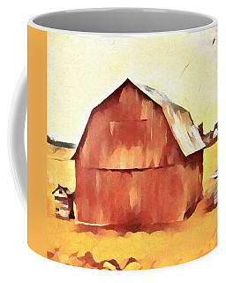 Coffee Mug featuring the painting American Gothic Red Barn by Dan Sproul