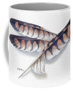American Kestrel Feathers 2 Coffee Mug