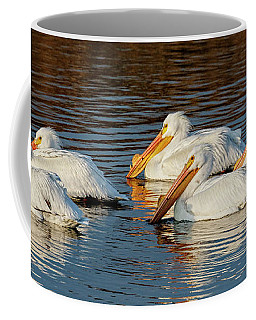 Coffee Mug featuring the photograph American Pelicans - 02 by Rob Graham