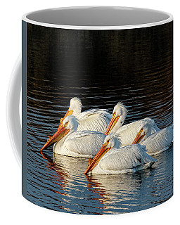 Coffee Mug featuring the photograph American Pelicans - 03 by Rob Graham