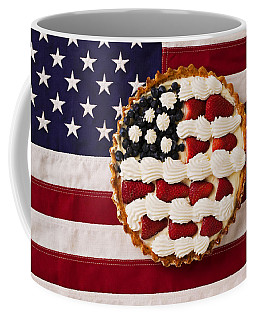 American Pie On American Flag  Coffee Mug