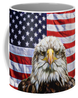 Coffee Mug featuring the photograph American Pride by Scott Carruthers