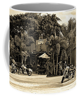 Coffee Mug featuring the photograph American Roadhouse Sepia by Laura Fasulo