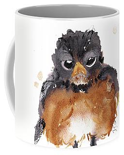 Coffee Mug featuring the painting American Robin by Dawn Derman