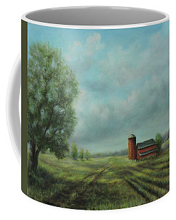 American Scene Red Barn  Coffee Mug