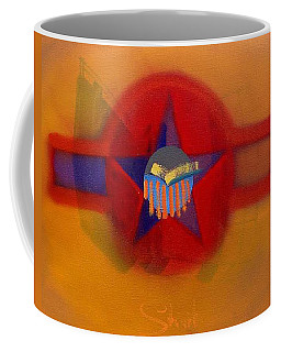 Coffee Mug featuring the painting American Sub Decal by Charles Stuart