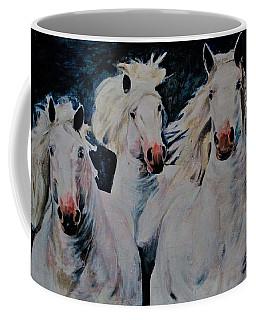 American White Coffee Mug by Khalid Saeed