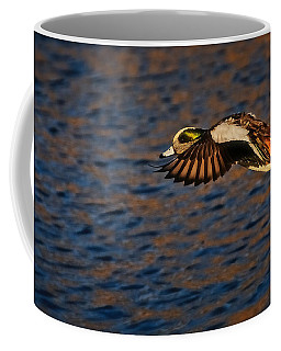 American Wigeon In Aerial Navigation Coffee Mug
