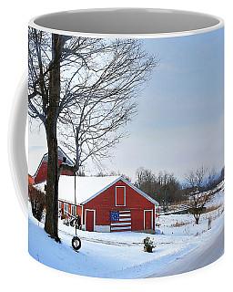 Americana Barn In Vermont Coffee Mug by Sharon Batdorf