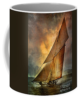 Coffee Mug featuring the digital art America's Cup 1 by Andrzej Szczerski