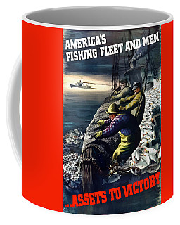 America's Fishing Fleet And Men  Coffee Mug