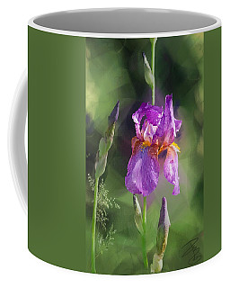 Amethyst Iris 2 Coffee Mug by Debra Baldwin