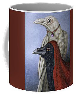Coffee Mug featuring the painting Amethyst by Leah Saulnier The Painting Maniac