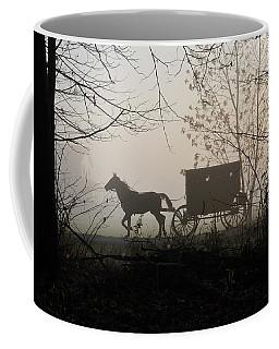 Amish Buggy Foggy Sunday Coffee Mug
