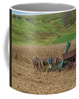 Amish Harvest In Ohio  Coffee Mug