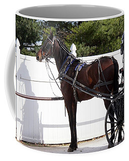 Amish Horse And Buggy In Lancaster County, Pennsylvania Coffee Mug