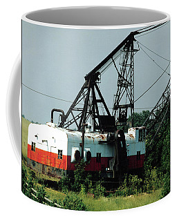 Abandoned Dragline Excavator In Amish Country Coffee Mug