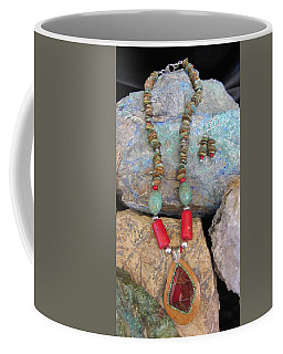 Ammolite In Gourd Wood #d178 Coffee Mug