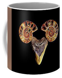 Ammonite On Megolodom - 8283 Coffee Mug