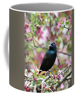 Coffee Mug featuring the digital art Among The Blooms by Betty LaRue
