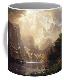 Coffee Mug featuring the painting Among The Sierra Nevada by Albert Bierstadt