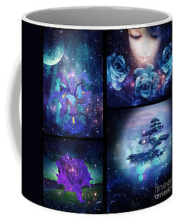 Among The Stars Series Coffee Mug by Mo T