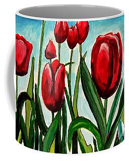 Among The Tulips Coffee Mug