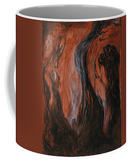 Coffee Mug featuring the painting Amongst The Shades by Christophe Ennis