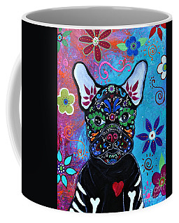Coffee Mug featuring the painting Amor Mi De Vida by Pristine Cartera Turkus