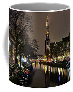 Amsterdam By Night - Prinsengracht Coffee Mug
