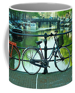 Coffee Mug featuring the photograph Amsterdam Scene by Allen Beatty