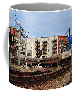 Coffee Mug featuring the digital art Amtrak 90413 by David Blank