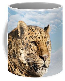 Amur Leopard Against Blue Sky Coffee Mug
