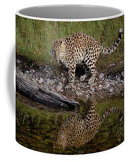 Amur Leopard Reflection Coffee Mug