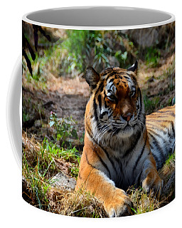Coffee Mug featuring the mixed media Amur Tiger 10 by Angelina Vick