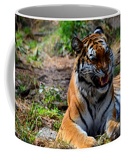 Coffee Mug featuring the mixed media Amur Tiger 3 by Angelina Vick