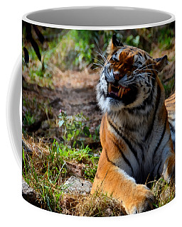 Coffee Mug featuring the mixed media Amur Tiger 6 by Angelina Vick