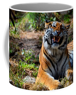 Coffee Mug featuring the mixed media Amur Tiger 7 by Angelina Vick