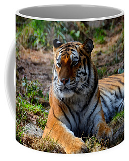 Coffee Mug featuring the mixed media Amur Tiger 8 by Angelina Vick