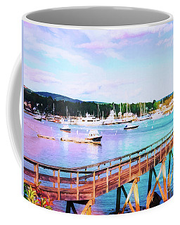 An Abstract View Of Southwest Harbor, Maine  Coffee Mug