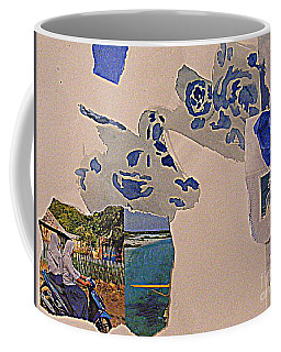 Coffee Mug featuring the mixed media An Adventure by Nancy Kane Chapman