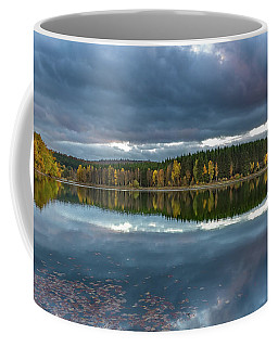 An Autumn Evening At The Lake Coffee Mug