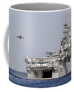 An Av-8b Harrier Prepares To Land Coffee Mug