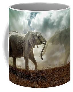 Coffee Mug featuring the digital art An Elephant Never Forgets by Nicole Wilde