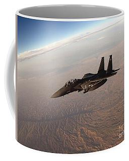An F-15e Strike Eagle Breaks Away Coffee Mug
